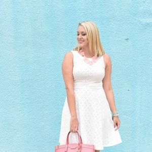 LOFT white eyelet sleeveless dress